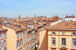 Roofs of Toulouse. View on the roofs of Toulouse, France Royalty Free Stock Photos