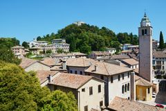 Roofs and tower in Asolo, Italy Stock Photography