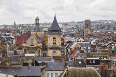 Roofs and towers of Dieppe, France Royalty Free Stock Image