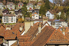 Roofs and townhouses of Bern Stock Photo