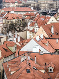Roofs of townhouses in Mala Strana district in Prague Stock Photography