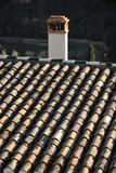 Roofs with traditional chimney in Granada, Spain Stock Photography