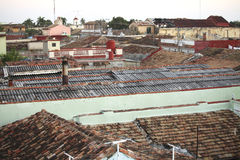 Roofs in Trinidad, Cuba Royalty Free Stock Images