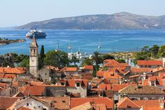 Roofs of Trogir Stock Images