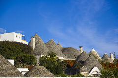 The roofs of trulli. Alberobello. View over the roofs of the trulli. Alberobello Royalty Free Stock Photos