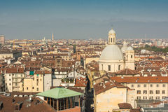 The roofs of Turin, Italy. A view of Turin from above Royalty Free Stock Photos