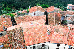 Roofs of Tuscany Stock Image
