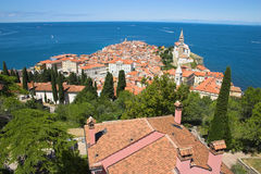 Roofs of a typical Mediterranean town Stock Photo