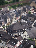 Roofs Of Typical Village In Moselle Valley Stock Photo
