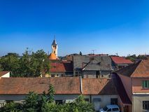 Roofs in Ukrainian city Mukachevo Stock Photo