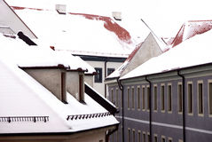 Roofs under the snow Royalty Free Stock Photography