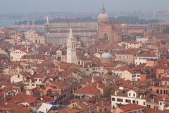 Roofs of venetian houses Stock Images