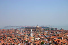 Roofs of Venice. View from the tower in Venice Royalty Free Stock Photography