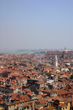 Venice. Aerial view from the tower in Venice Royalty Free Stock Photos