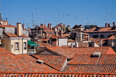 Roofs in Venice, italy Stock Images