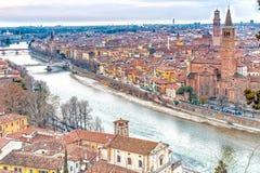 Roofs of Verona in Italy Royalty Free Stock Photo