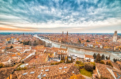 Roofs of Verona in Italy Royalty Free Stock Images