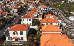 Roofs. View of the city.  Funchal, Madeira island, Portugal stock image