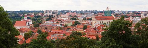 Roofs of the Vilnius city. Vilnius -ancient capital of Lithuania Stock Image