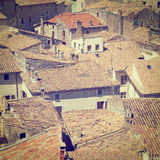 Roofs of Viviers Stock Images