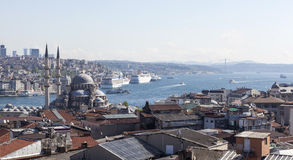 On the roofs of Walid Khan. Istanbul. Turkey. Royalty Free Stock Photo