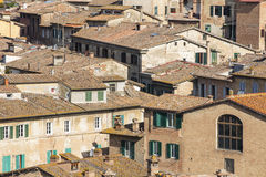 Roofs and walls of houses in Siena Royalty Free Stock Images
