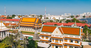 Roofs of Wat Arun, the Temple of Dawn, Bangkok Royalty Free Stock Images