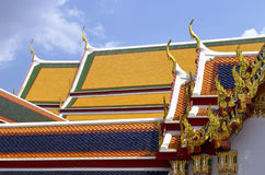 Roofs of the Wat Pho. In Bangkok, Thailand royalty free stock image