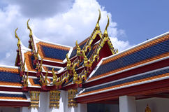 Roofs of the Wat Pho. In Bangkok, Thailand royalty free stock photography