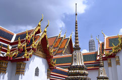 Roofs of the Wat Pho. In Bangkok, Thailand stock photo