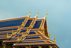 Roofs of Wat Phra Kaeo Royalty Free Stock Photo