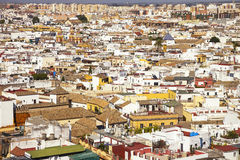 Roofs and white houses view from Giralda bell tower. Seville or Royalty Free Stock Photos