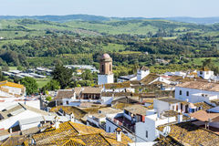 Roofs white town in the mountain, Jimena de la Frontera Royalty Free Stock Photography