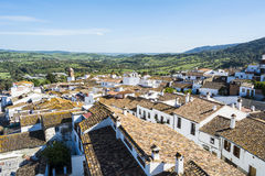 Roofs white town in the mountain Royalty Free Stock Photos