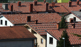 Roofs of windy town Stock Photos