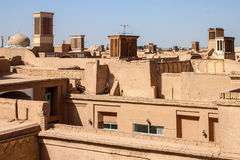 Roofs of Yazd Royalty Free Stock Photography