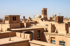 Roofs of Yazd Stock Photo