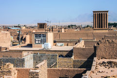 Roofs of Yazd Stock Image