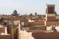 Roofs of Yazd Stock Photos