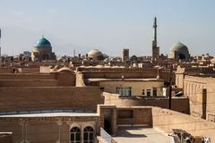 Roofs of Yazd. In Iran Royalty Free Stock Photos