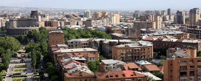 Roofs of Yerevan. Royalty Free Stock Image