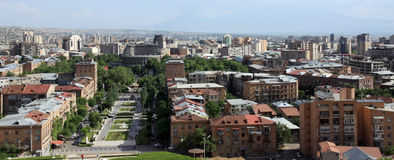 Roofs of Yerevan, Armenia royalty free stock photo