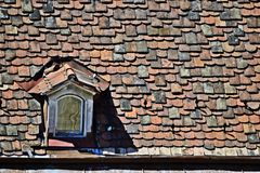 Rooftiles in Sopron. Detail of rooftiles in Sopron, Hungary Royalty Free Stock Photo