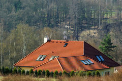 Rooftop. View of rooftop home with landscape royalty free stock image