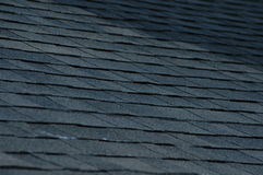 Rooftop. A view of a black shingle roof on  a house Stock Photo