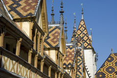 Rooftop. Of the Hospice de Beaune in France Royalty Free Stock Photos