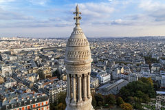 Rooftop and aerial view from Basilica Sacre Coeur Stock Photos