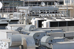 Rooftop Air Conditioner Stock Photography