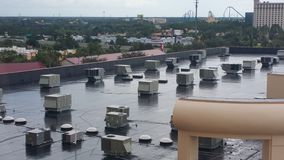 Rooftop air conditioning units royalty free stock images