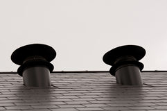Rooftop air vents Royalty Free Stock Photography
